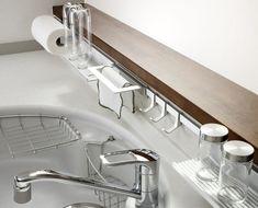 [At] キッチンハンガーシステム2 6種のアクセサリーでキッチン周りをカスタマイズ