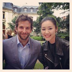 Liu Wen & Bradley Cooper at Bulgari Cocktail Event #liuwen #bradleycooper #bulgari #behindthescenes #follow #followme