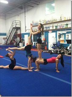 acro yoga 4 person  acroyoga challenge 4 people  yoga