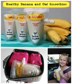 Banana and Oat Smoothie - perfect 'on-the-go' snack for kids!
