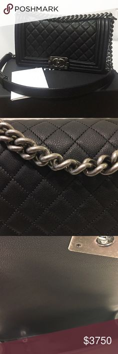$2400 CHANEL le boy RHW 100% Authentic. Comes with everything. Price is firm and off posh. Can list at a higher price if you wish to buy on here. CHANEL Bags