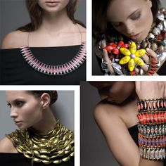 Recycled packaging jewelry by Kotik
