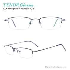 85352e62d7 Classic Metal Half Rim Rectangle Spectacles Men Eyeglass Frame For Clear Lenses  Myopia  amp  Reading