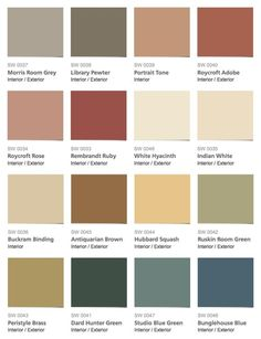 Sherwin Williams U2013 Historic Color Collection U2013 Arts U0026 Crafts Interior Paint  Colors By Cmyk