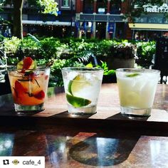 Oh my!! These cocktails at The Mezz at @cafe_4 look amazing!!! #Repost @cafe_4  In honor of the 2016 Olympic Games! Come enjoy a traditional Capariña a Straw-Basil Cachaça and a Brazilian Lemonade at your favorite cocktail lounge on Market Square! #knoxville #knoxvilletn #ilovelocalknoxville