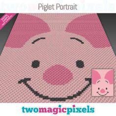 C2c Crochet, Crochet Chart, Crochet Designs, Crochet Patterns, Crochet Ideas, Baby Piglets, Corner To Corner Crochet, Crochet Disney, Bobble Stitch