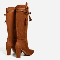 SPLIT SUEDE HIGH HEEL BOOTS-View all-SHOES-WOMAN | ZARA United Kingdom
