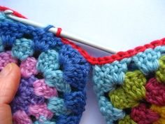 Joining Granny Squares in Crochet. Can be used to Join Knitted Squares as well. Attic 24