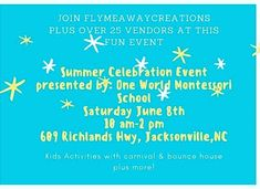 June 8 stop by in Jacksonville,nc to a fun event that Flymeawaycreations Etsy shop will be a vendor plus over 25 more!!