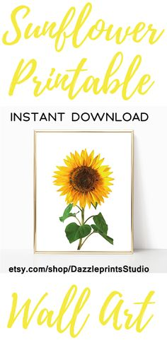 Sunflower Wall Art - SUNFLOWER ROOM DECOR [Instant Download Print] helianthus, sunflower poster, one piece poster, herb wall art, above bed art, large scale art Shop Printable Wall Art by Dazzle Prints Studio. #sunflowerdecor##printables#printablewallart#printableart#bedroomdecor#livingroomdecor#officedecor#moms#family#parents#wallart#wallartdecor#wallartprints#setof2#farmhousedecor#farmhousestyle#flowerprints#homedecor#posterart#affordabledecor#minimalism#kitchendecor