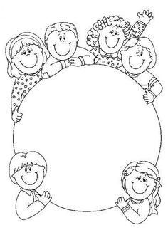 Tipss und Vorlagen: Frame and Coloring Page for kids Nastenka v skolke Earth Day Coloring Pages, Colouring Pages, Coloring Books, Kindergarten Coloring Pages, Earth Day Crafts, Earth Day Activities, Borders And Frames, Bible Crafts, Writing Paper