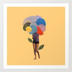 i dream of you amid the flowers Art Print by Cardboardcities - $18.00
