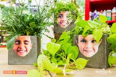 These adorable #DIY face #plants by @kennethwingard are easy to create and your kids will love to help make with you! For more great DIYs don't miss Home & Family weekdays at 10a/9c on Hallmark Channel!