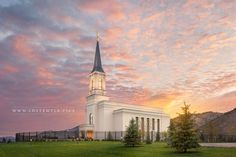 Star Valley Temple The Morning Breaks - The first light of the day peeks over…