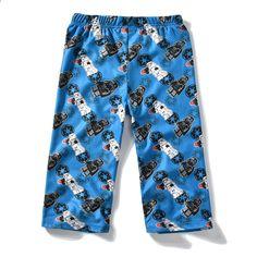 큰 아이들을위한 바지 여자 아이들의 롱 바지 짧은 솔리드 면화 블루 바지 어린이 만화 잠자는 잠옷 4 5 8 10 11 12 세 Pajama Pants, Fashion, Pajamas, Blue Trousers, Guys, Sleep, Cotton, Moda, Sleep Pants