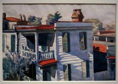 Ashe's House, Charleston, SC, Edward Hopper