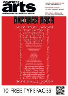 Computer Arts Magazine Cover (Personal Project) by Caroline Azariah, via Behance
