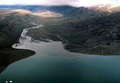 Arctic sedimentation, #9 - braided rivers delivering sediments to a bay by Jon Dev, via Flickr