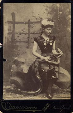 At the turn of the century almost all snake charmers were women.