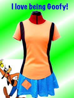 Goofy  inspired running outfit by iGlowRunning on Etsy, $78.00