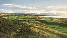 17th Hole and Links, Royal Dornoch Golf Club, Scotland  Canvas Giclée 21 x 36 $750 http://golfpicture.com/17th-dornoch.html
