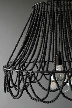 Beaded Ceiling Light, £120, Rockett St George - would be a good way to customise a 'naked' lamp frame!