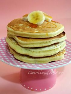 Cooking & Art by Marion: Αφράτες τηγανίτες / Fluffy pancakes ! Fluffy Pancakes, Food And Drink, Cooking, Breakfast, Recipes, Art, Kitchen, Morning Coffee, Art Background