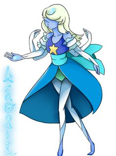 Aragonite: Pearl and Sapphire Fusion by KasuMist on DeviantArt