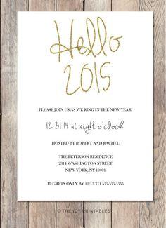 Handmade New Years Eve Printable Invitation Card for 2015 - New Years Party, Card Craft  #2015 #new #years #eve
