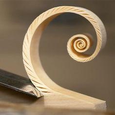 Super Satisfying Video of a Woodcarver Making 'Fibonacci' Spiral Shavings