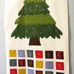 Felt Advent Calendar with Ornaments   Craftsy