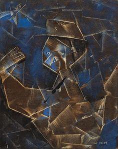 Max Ernst(German, 1891 - 1976)Untitled, 1950Oil on wood
