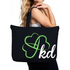 Sham-rock the house. Whether you tote around your books or a pot of gold, this spacious Kappa Delta Heart Clover Tote will carry it all. With this stylish and practical tote, you will be truly lucky KD girl.17.5