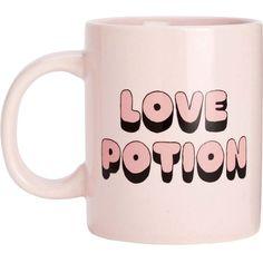 BANDO Hot stuff love potion ceramic mug (€20) ❤ liked on Polyvore featuring home, kitchen & dining, drinkware, fillers, food, mugs, misc, ceramic mugs, ceramic tea mugs and ceramic coffee mugs