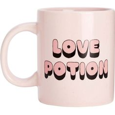 BANDO Hot stuff love potion ceramic mug ($22) ❤ liked on Polyvore featuring home, kitchen & dining, drinkware, fillers, food, misc, mugs, tea mug, ceramic tea mugs and bando