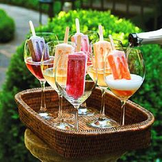 Summer party-popsicle for the kids and these for the adults!