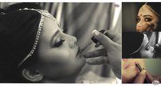 Getting ready moments of our Bride | #bengalibride #desilook #indianbride #makeup #ipicframes #BeautifulBrides #bridalmakeup