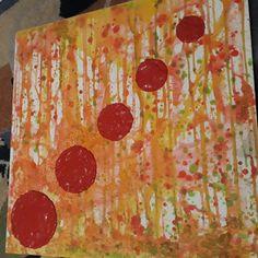 und weiter geht's 👩🎨 Steine und Farbe vermischt, damit die Kreise sich schön abheben 👩🎨😍 Homemade Art, Etsy, Pictures, Lift Off, Circles, Unique, Artworks, Canvas, Abstract