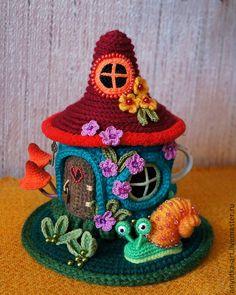 """Купить грелка на заварочную кружку """"Цветочный домик"""" - грелка на чайник, грелка на кружку"""