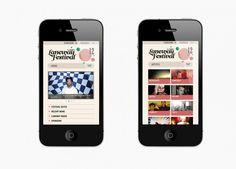 Laneway Festival ongoing website design & development, mobile site & EDMs. paste.com.au