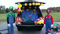 My trunk I.did for my mom's churches trunk or treat.....I even.had the Mario music going through the speakers...loved how it turned out ;)