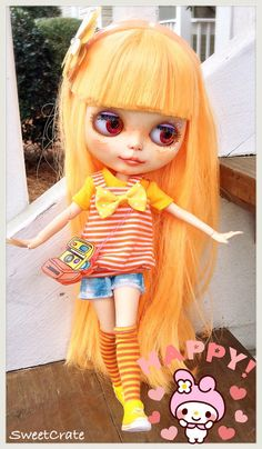 OOAK Blythe - Sunny Melody - Custom Blythe Doll by SweetCrate - Free US Shipping