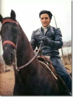 Elvis Presley and his horse Bear