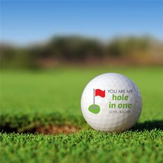 Personalized You Are My Hole in One Golf Ball Set Golfballs-12890-S6