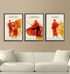 Star Wars Movie Trilogy Poster Set by Posterinspired on Etsy