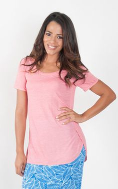 Coral Tunic T Shirt ~ Resort Wear