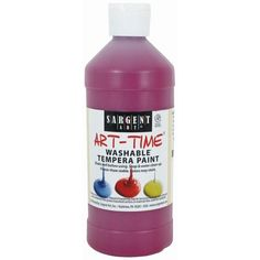 Bright colors for preschool and budding young artists. Non-toxic. Sargent Art, Color Crayons, Washable Paint, Ap Art, Tempera, Arts And Crafts, Painting, Magenta, Orange