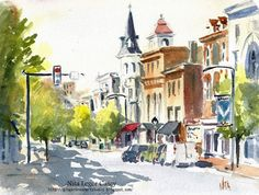 Watercolor by Nita Leger Casey  (c)2012  http://gingerbreadartstudio.blogspot.com/