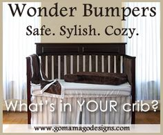 Beautiful Baby Bedding - Wonder Bumpers are the safe and stylish solution to your crib bumper dilemma. Free Teething Guard with purchase through the end of the month!  www.gomamagodesigns.com.