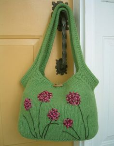large green tote by LilibethsGarden, via Flickr